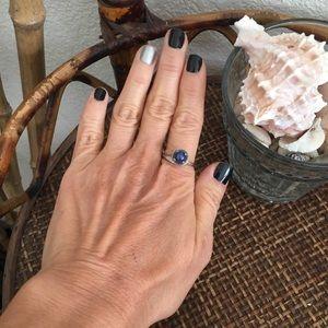 VINTAGE 14K Blue Sodalite Ring Size 8